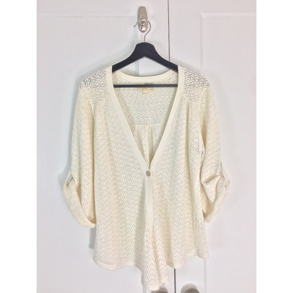 18c9ee3d5 Elizabeth and James Pointelle Knit Drape Sweater